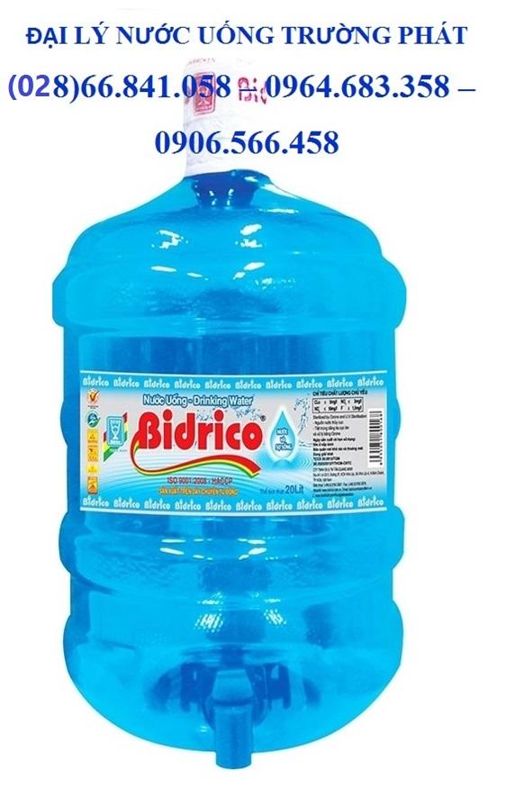 Đại lý giao nước uống Bidrico bình 20l