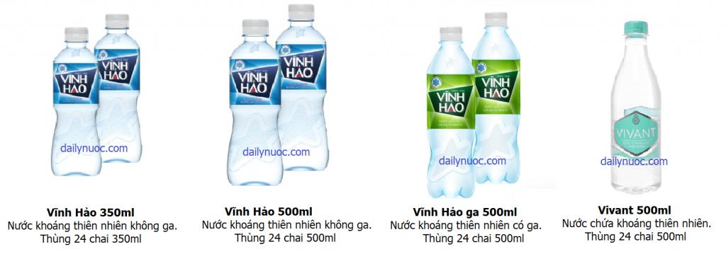 Đại lý cung cấp nước khoáng tinh khiết Vĩnh Hảo TPHCM