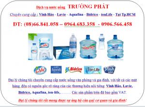 Đại lý nước uống HCM