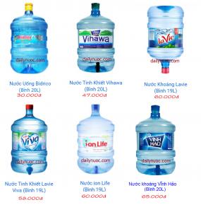 Bảng giá nước bình 20l
